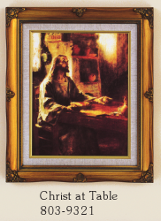 Christ at Table Framed Picture
