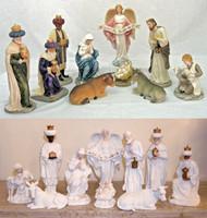 "Nativity Statues (10 piece set--tallest 10.5"")"
