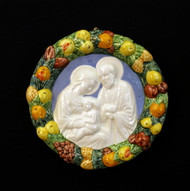 Holy Family Ceramic Wall Plaque