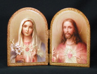 Sacred & Immaculate Hearts Florentine Diptych