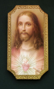 Sacred Heart of Jesus Florentine Wall Plaque
