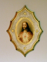 Sacred Heart of Jesus Florentine Plaque