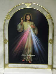 Divine Mercy Florentine Wall Plaque