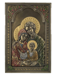 A Holy Family Wall Plaque