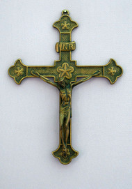 Antiqued Brass Crucifix 131709