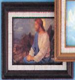 Christ on Mt. Olive Framed Print 357-3421