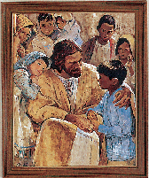 Christ with Children Framed Print by Hook