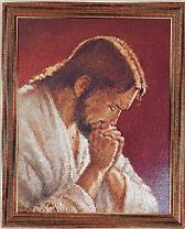 Christ at Prayer Framed Print by Parisi
