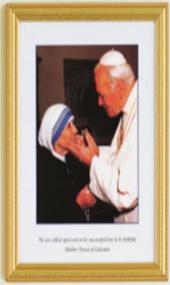 Mother Teresa & Pope Framed Print