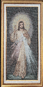 Divine Mercy Imported Italian Framed Tapestry