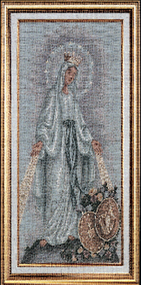 The Miraculous Medal Imported Italian Framed Tapestry