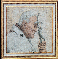 Pope John Paul II Imported Italian Framed Tapestry