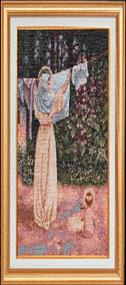 Polish Madonna Imported Italian Framed Tapestry