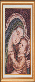 Our Lady of Good Counsel Imported Italian Framed Tapestry