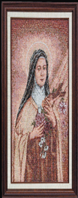 St. Theresa the Little Flower Imported Italian Framed Tapestry