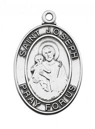 STERLING SILVER ST. JOSEPH MEDAL
