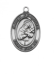 STERLING SILVER ST. FRANCIS MEDAL
