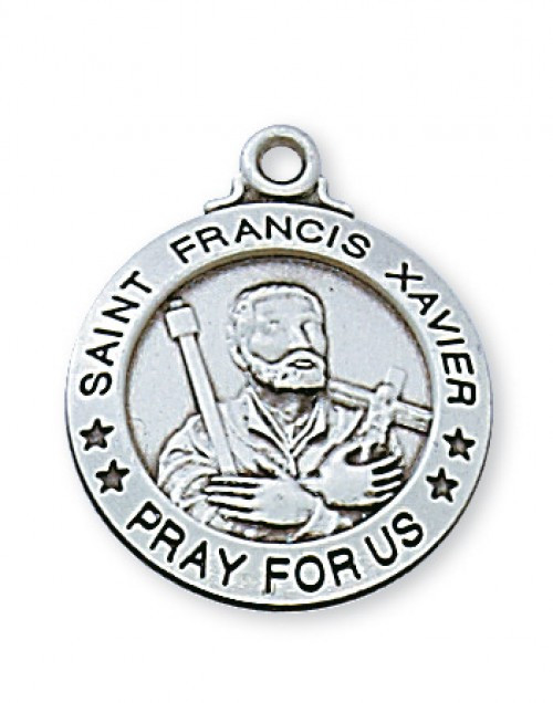 STERLING SILVER ST. FRANCIS XAVIER MEDAL