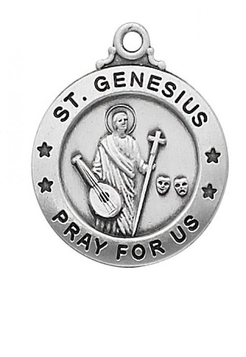 STERLING SILVER ST. GENESIUS MEDAL