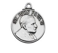 STERLING SILVER ST. JOHN PAUL II MEDAL L697