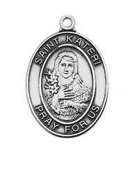 STERLING SILVER ST. KATERI MEDAL