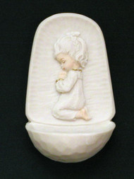 Praying Girl Holy Water Font