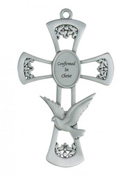"PEWTER HOLY SPIRIT 6"" CROSS 77-20"