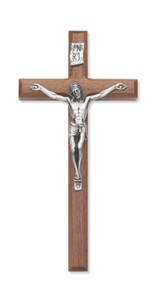 "12"" BEVELED WALNUT CRUCIFIX 80-06"