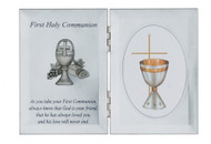 FIRST HOLY COMMUNION SILVER PLAQUE 76-15