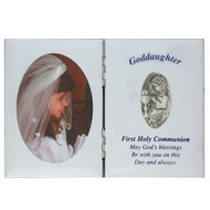 GRANDDAUGHTER SILVER COMMUNION PLAQUE FRAME 76-18
