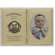 GRANDDAUGHTER BAPTISM GUARDIAN ANGEL PLAQUE 74-05784