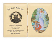 BAPTISM GUARDIAN ANGEL PLAQUE 74-05789
