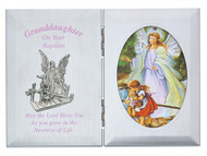 GRANDDAUGHTER BAPTISM GUARDIAN ANGEL PLAQUE 74-13