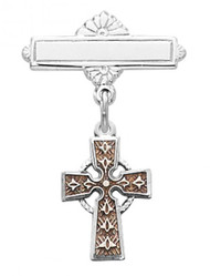 BABY CELTIC CROSS PIN 434L