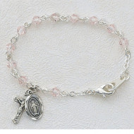 BABY BRACELET TIN CUT ROSE 4MM BR121D