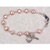 PINK PEARL HEART BRACELET BR173WM
