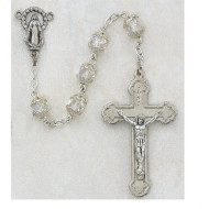 CRYSTAL AURORA CAPPED IMPORTED ROSARY 7MM 259R