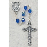 SEPTEMBER BIRTHSTONE IMPORTED ROSARY 6MM 875-BLG