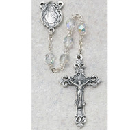 APRIL BIRTHSTONE IMPORTED ROSARY 6MM 875-CRG