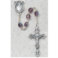 FEBRUARY BIRTHSTONE IMPORTED ROSARY 6MM 875-DAG