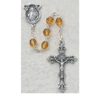 NOVEMBER BIRTHSTONE IMPORTED ROSARY 6MM 875-TOG