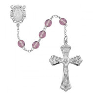 JUNE BIRTHSTONE IMPORTED ROSARY 6MM 880-AM/KF