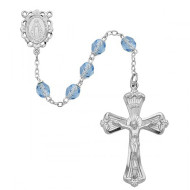 DECEMBER BIRTHSTONE IMPORTED ROSARY 6MM 880-ZR/KF