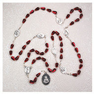 RED TEAR DROP IMPORTED ROSARY P143R