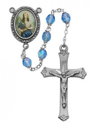 BLUE ROSARY 6MM R187DF