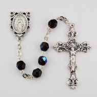 JANUARY BIRTHSTONE IMPORTED ROSARY 6MM R391-GA/G