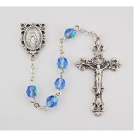 DECEMBER BIRTHSTONE IMPORTED ROSARY 6MM R391-ZR/G