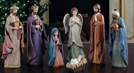 "7 PIECE 11/5"" NATIVITY SET WITH KRACKEL FINISH"