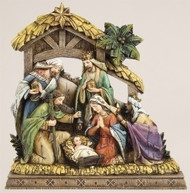 NATIVITY WITH A WOOD CARVED LOOK
