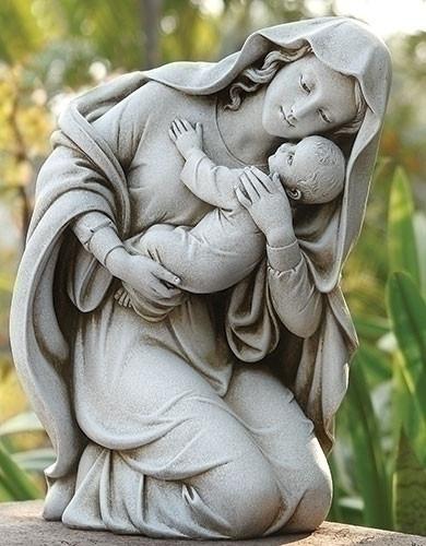 "Kneeling Madonna & Child (13.5"")"
